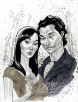 LOST sketch 'Sun and Jin' by J-Scott-Campbell