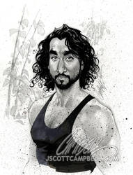 LOST sketch 'Sayid' by J-Scott-Campbell