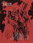 HELLBOY 'red paper' by J-Scott-Campbell