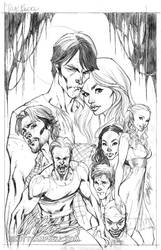 True Blood cover 1 Pencils by J-Scott-Campbell
