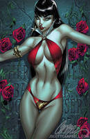 Vampirella 1 cover COLOR by J-Scott-Campbell