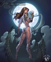 Witchblade 125 cover by J-Scott-Campbell