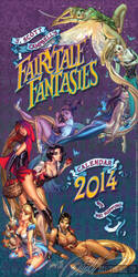 FairyTale Fantasies 2014 calendar cover by J-Scott-Campbell