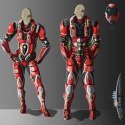 EHO - Human Heavy Armor (M/F) by BioticShark