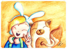 Kawaii Time With Fionna and Cake~ :3 by heeyjayp17