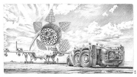 Airport Tow Tractor 02 by liquidforests