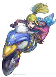 Zelda MK8 - FANAAAAAAART by Alderion-Al