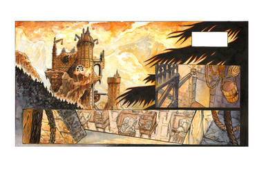 Watercolor panel closeup by DrManhattan-VA