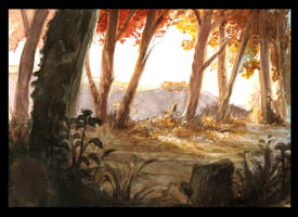 Watercolor stketch study by DrManhattan-VA