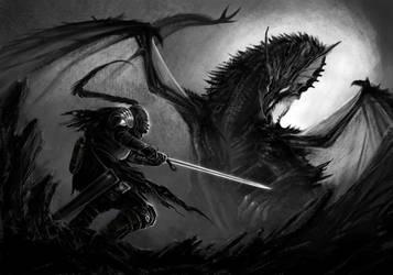Dragon Knight - WIP 3 by DrManhattan-VA
