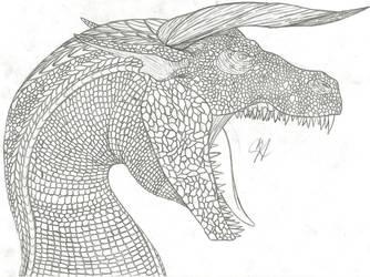 Dragon Sketch 2 by Chigiri16