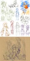 Mostly Pokemon Sketchdump by Lubrian
