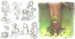 Deku Link Studies by Lubrian