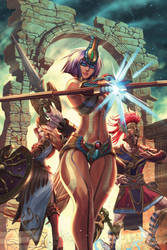 Cover, Smite: The Pantheon War II by eDufRancisco