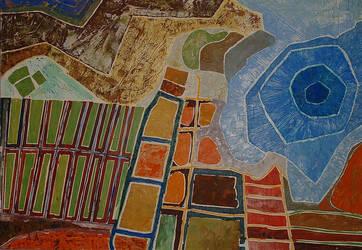 Fields And Lake by aryehagmon