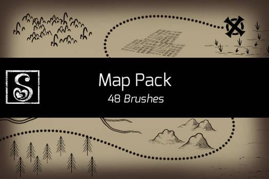 Manga Studio 5 Map Pack - 48 Brushes by Shrineheart