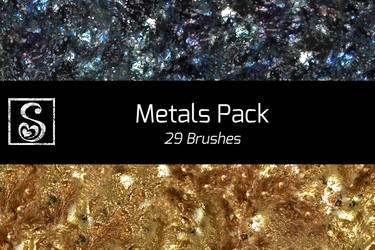 Shrineheart's Metals Pack - 29 Brushes by Shrineheart