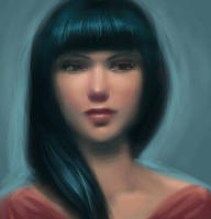Black-haired girl by Ciuva
