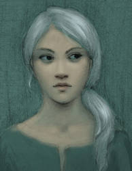 Shanni portrait - sketch by Ciuva