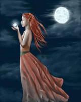 Goddess of Magic WIP by Ciuva