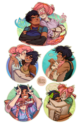 Bates and Luvi [stickers] by ArainMorn