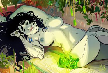 Genivieve - Relaxing Morning by ArainMorn