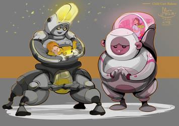 Child Care Robots by ArainMorn