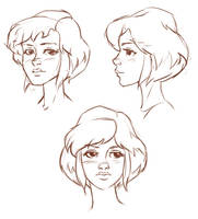 April O'Neil warm up's by Pa-Go