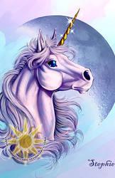 Lunar Unicorn by BrightSolaris