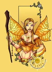 Golden Fairy by BrightSolaris