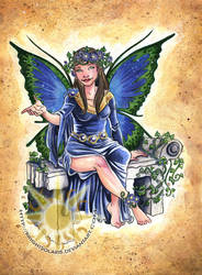 Blue Butterfly Fairy by BrightSolaris