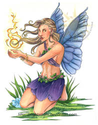 Butterfly Fairy Pinup by BrightSolaris