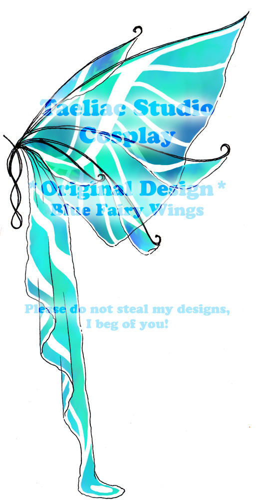 DESIGN: Blue Fairy Wings by taeliac