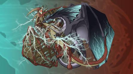 Lightning Vs. Plague by EmberIsolte