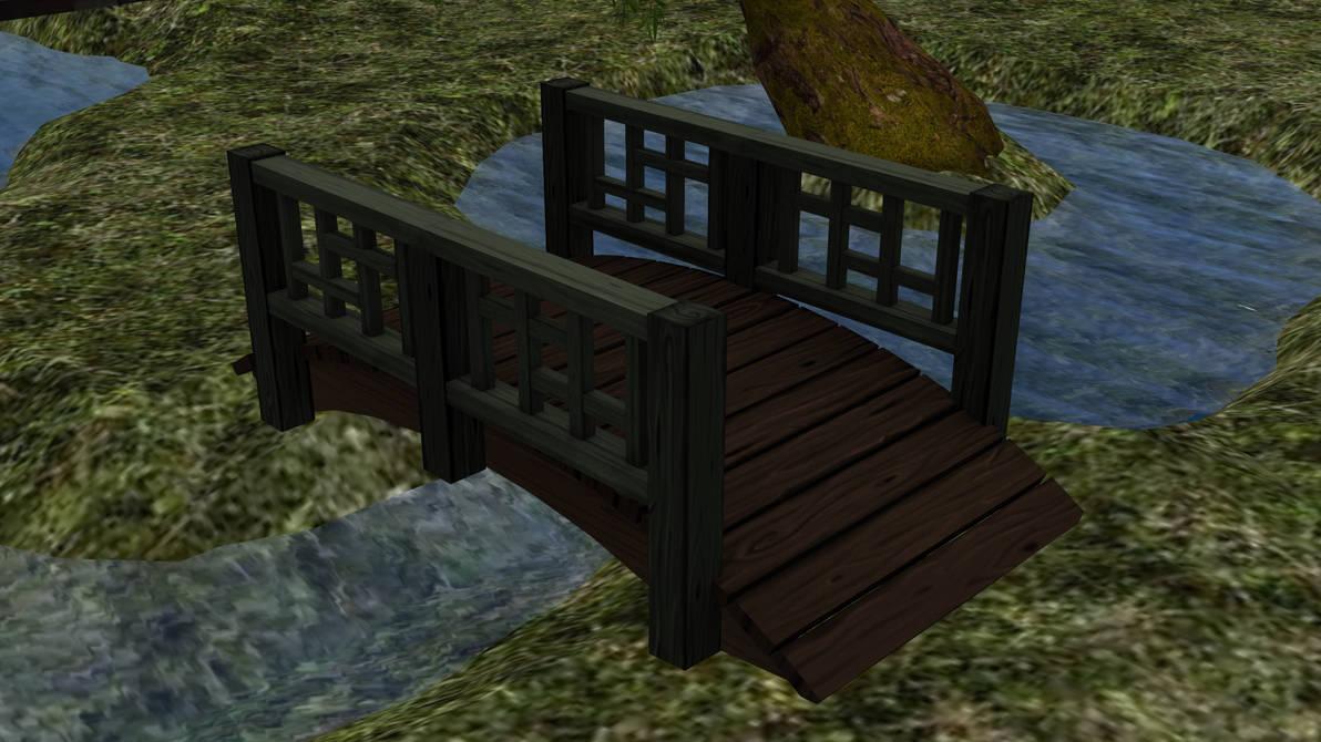 Garden Bridge 3D Model by EmberIsolte