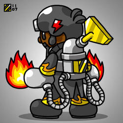 Commissions - Mini-Flame Lord by professorhazard