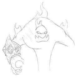 WoW - Fire Elemental by professorhazard