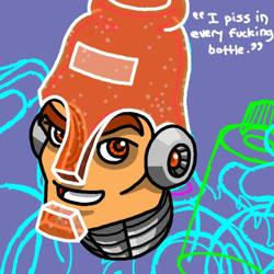 Fizz Man ad sketch by professorhazard