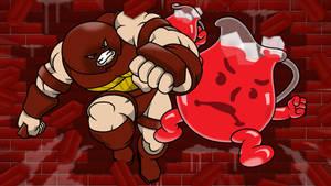 Kool-Aid Man VS The Juggernaut by professorhazard