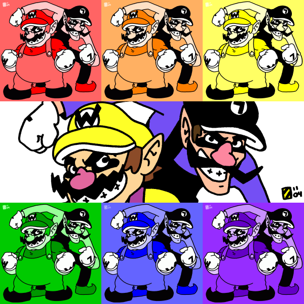 Warhol Wario Bros. by professorhazard