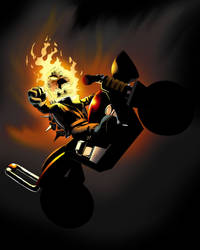 Ghost Rider Dry Bones by Blackbear972
