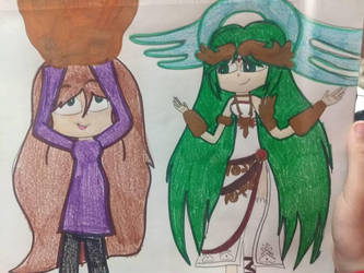 Emily in Smash: Palutena by tailsthefoxlover715