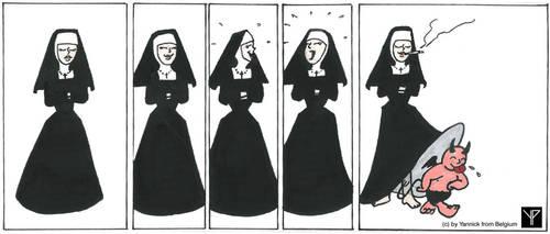 A nun's joy /  Die Freuden einer Nonne by yannickfrombelgium