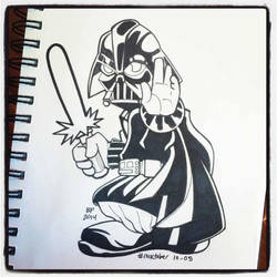 INKtober Day 5 Tiny Vader by BigDogsStudio