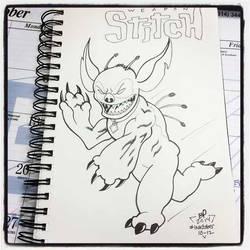 INKtober Day 13 Stitch by BigDogsStudio