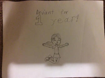Deviant for 1 year! by Apolonahue1