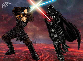 Anakin versus Vader by azzh316