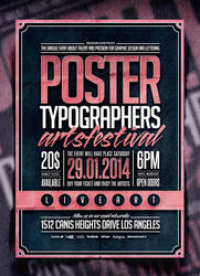 Typography Poster Template Vol. 2 by IndieGround