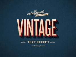 Retro Vintage Text Effect No.1 by IndieGround