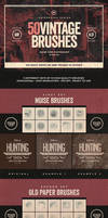 50 Vintage Photoshop Brushes Set Vol.1 by IndieGround